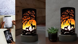 D Y PVC Pipe Table Lamp For Living Room Best Handmade Gift For Mother Rahno Crafter