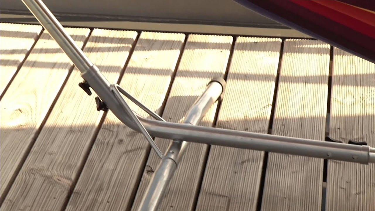 semptec h ngematte mit metallgestell f r balkon und. Black Bedroom Furniture Sets. Home Design Ideas