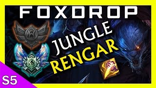 [S5] Rengar Jungle - One-shot Full AD Assassin Gameplay! - Unranked to Diamond