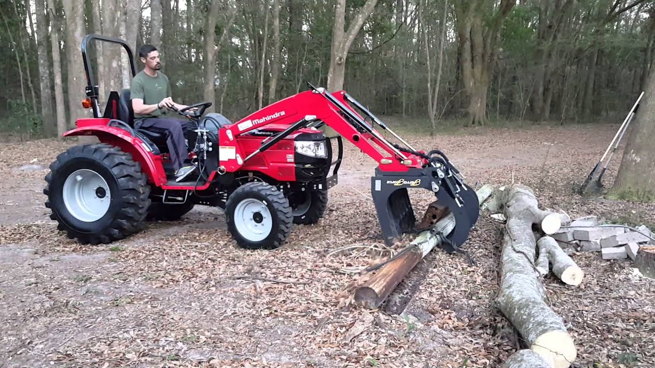 Mahindra 1526 with Grapple Hook