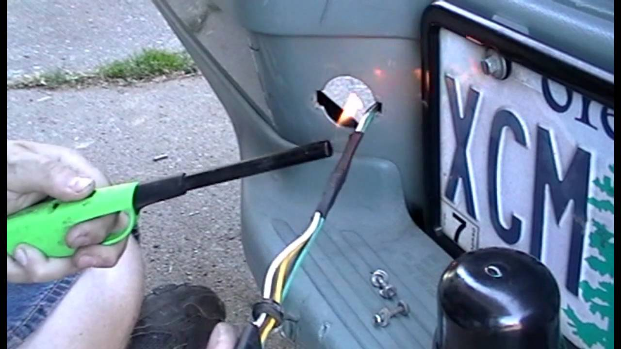 4 Wire Trailer Connector Diagram On Truck 1995 Ford Limited Explorer Trailer Light Wiring Youtube