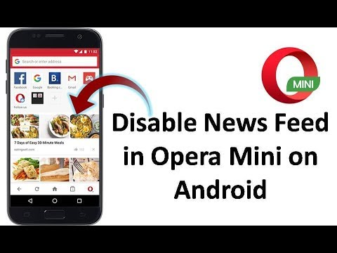 How to Enable or Disable News Feed in Opera Mini on Android in Hindi