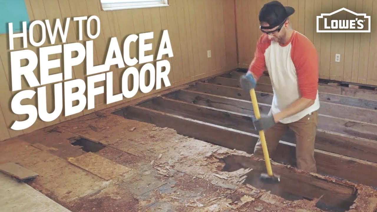 How To Remove And Replace A Rotten Subfloor Youtube