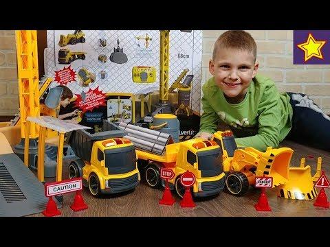 Машинки Игрушки купили САМЫЙ БОЛЬШОЙ Silverlit Мегастройка Управляем грузовиками, трактором и краном
