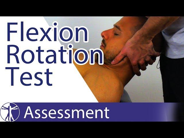 Flexion Rotation Test | Upper Cervical Spine Rotation