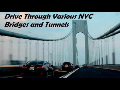 Driving through New York City Various Bridges and Tunnels