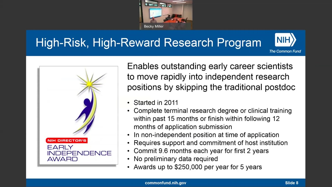 NIH Director's Early Independence Award Program