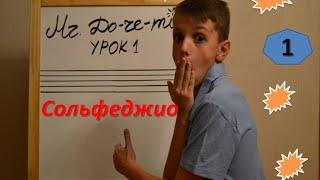 1 урок по сольфеджио.Нотный стан.Учимся писать скрипичный ключ.
