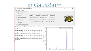 Gaussian with GaussSum: Raman and IR spectra