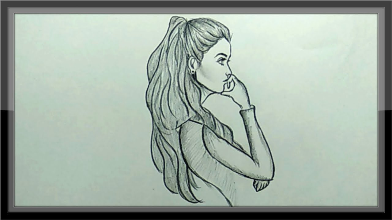 Pencil Drawing How To Draw A Girl Simple And Easy Youtube