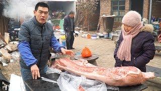 【食味阿远】阿远买了半头猪和5个肘子,今天煮猪肉、压肘花,忙了一天才干完   Shi Wei A Yuan
