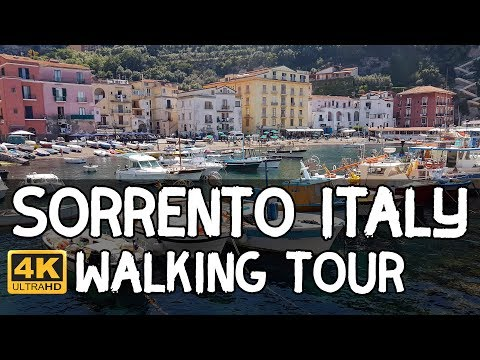 Sorrento, Italy Walking Tour in 4K