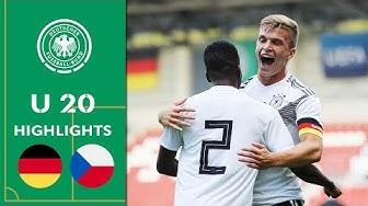 Kühn und Otto glänzen | Deutschland - Tschechien 4:2 | Highlights | U 20 Länderspiel