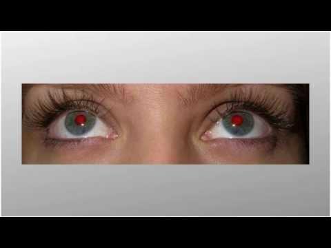 Как сделать фото с красными глазами