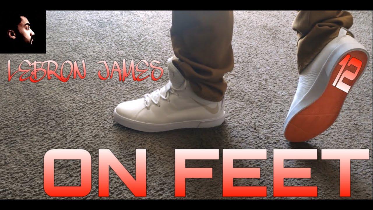 Nike Lebron XII (12) NSW Lifestyle QS (WHITE) ON FEET