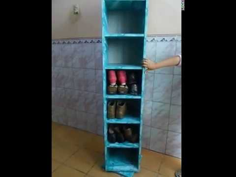 Mueble De Melamina Zapatero Giratorio Con Espejo