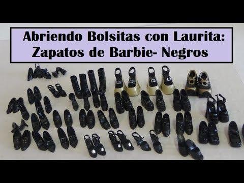 5b8022001 Abriendo Bolsitas con Laurita: Zapatos de Barbie - Negro - YouTube