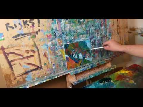Impressionism Oil Painting Landscape, Art Demo By Artist JOSE TRUJILLO