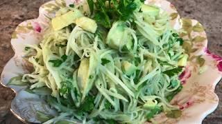 ПП САЛАТ .Капуста КОЛЬРАБИ.Как приготовить самый вкусный и полезный  салат.