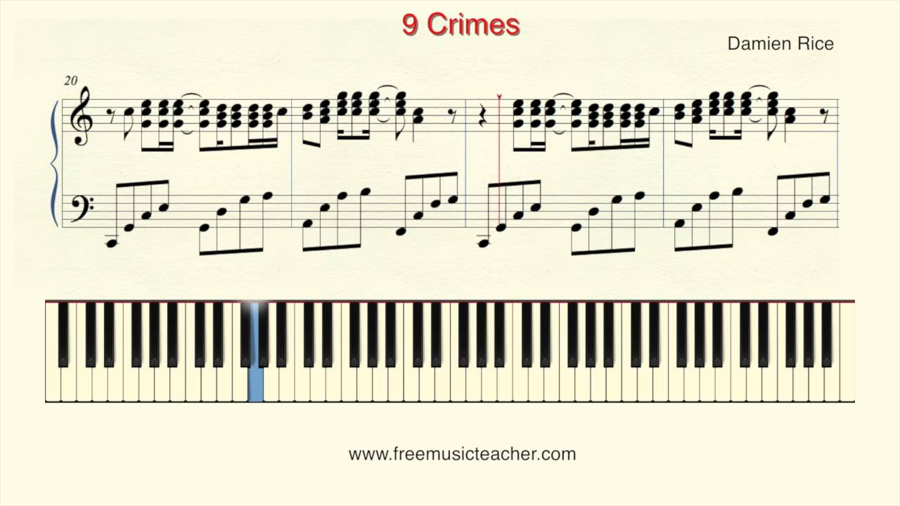 How To Play Piano Damien Rice 9 Crimes Piano Tutorial By Ramin Yousefi Youtube