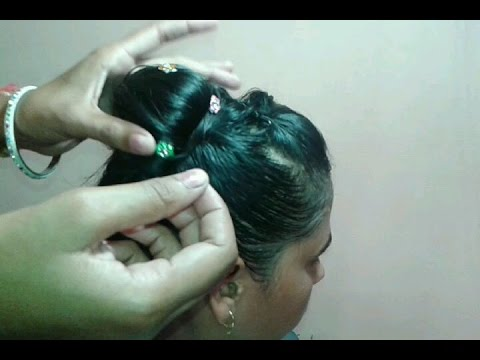 Indian Bride Juda Hair Style Video In Hindi Youtube