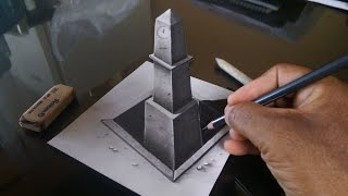 How to Draw a 3D Clock Tower