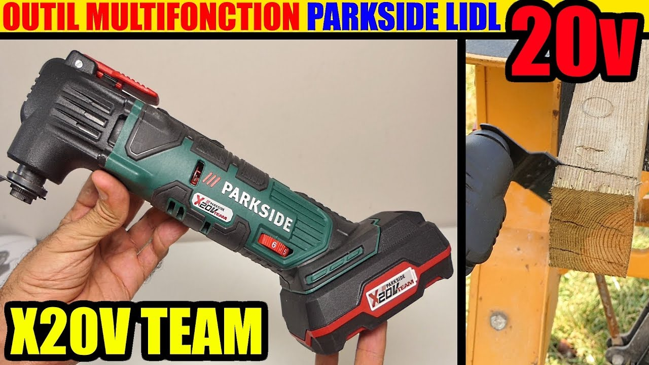 Outil Multifonction 20v Parkside Lidl X20vteam Cordless Multi Purpose Tool Multifunktionswerkzeug