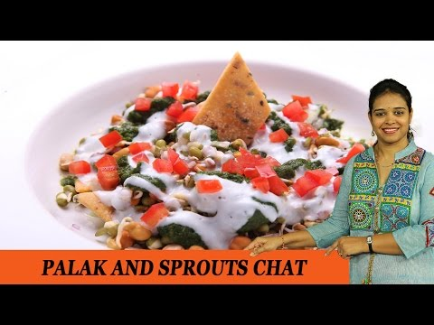 Palak And Sprouts Chat - Mrs Vahchef