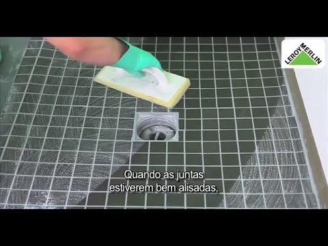 Como aplicar azulejos com epoxi para criar base de duche  YouTube