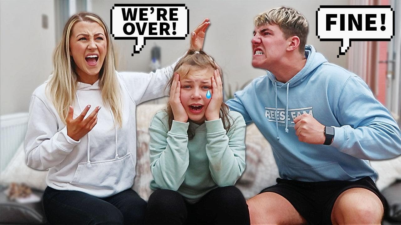 Breaking Up With My GIRLFRIEND In Front Of My Little Sister To See How She Would React...