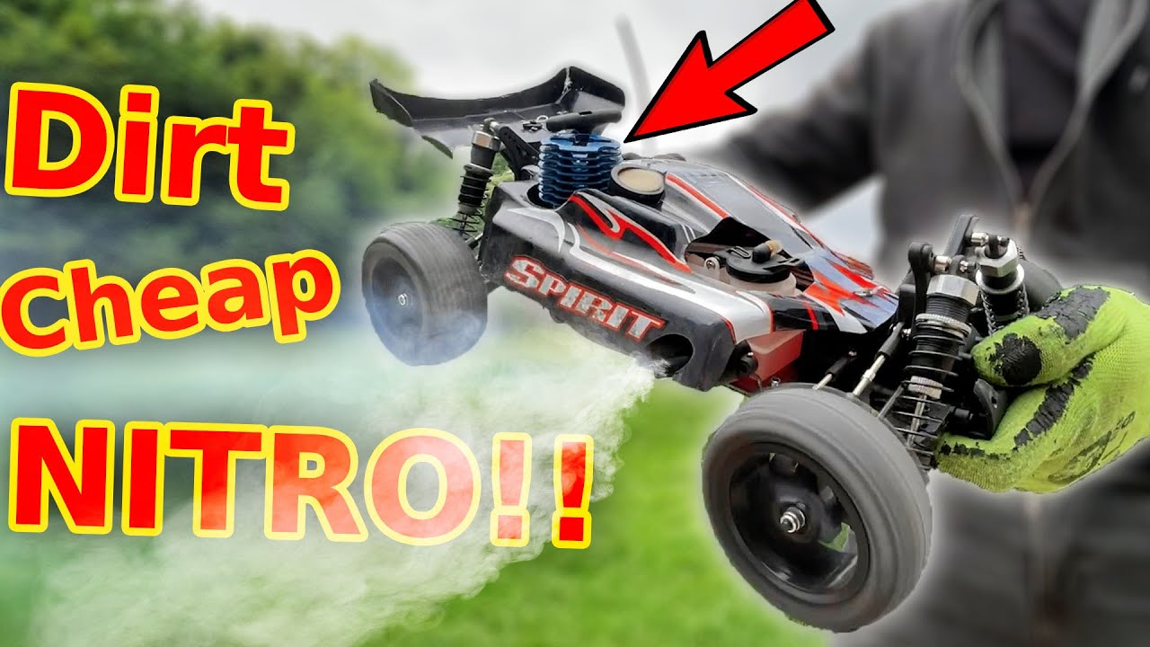 Cheap RC Nitro Buggy testing