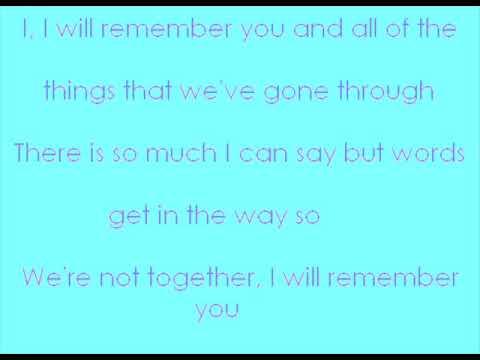 I Will Remember You (Lyrics)-Ryan Cabrera