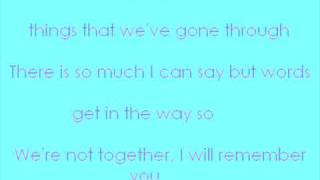 I Will Remember You (Lyrics)-Ryan Cabrera