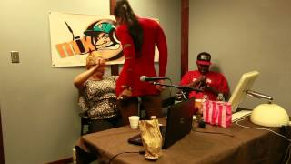 ARYANA STARR GIVES RADIO HOST BLANCA A LAP DANCE ON POTENT RADIO