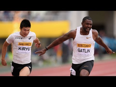 Justin GATLIN wins 100m OSAKA GOLDEN GRAND PRIX 2018