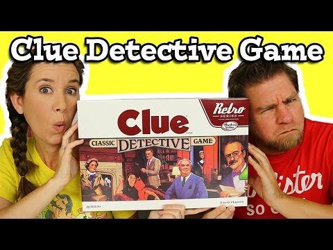 Clue Game Retro Classic Detective Game