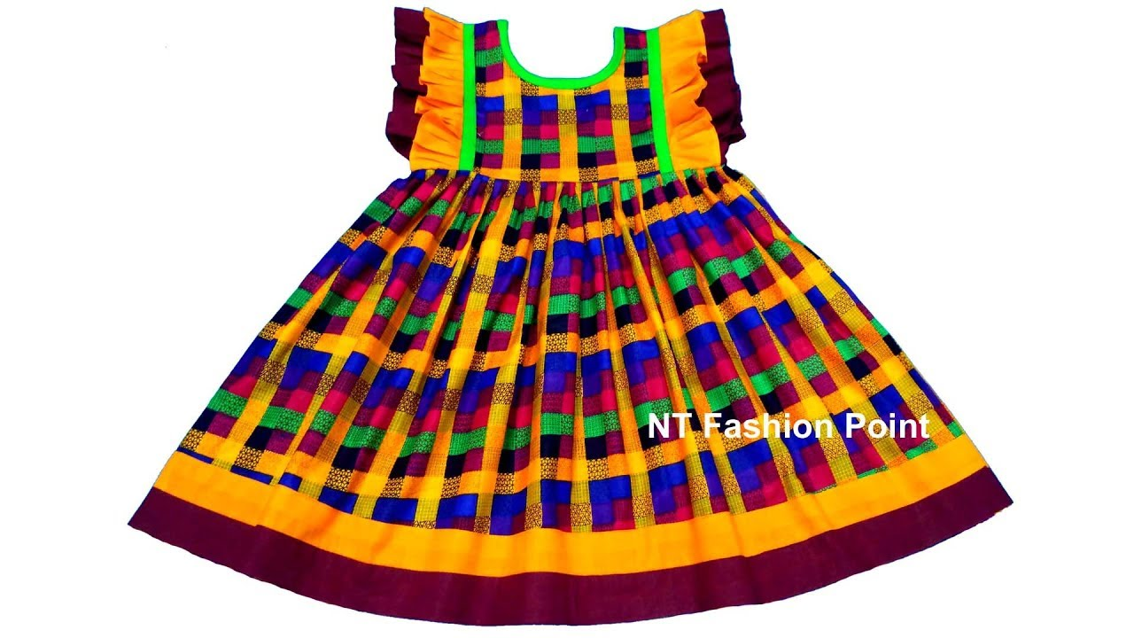ef5ac0f65443c New design simple kids summer baby dress cutting & stitching - YouTube