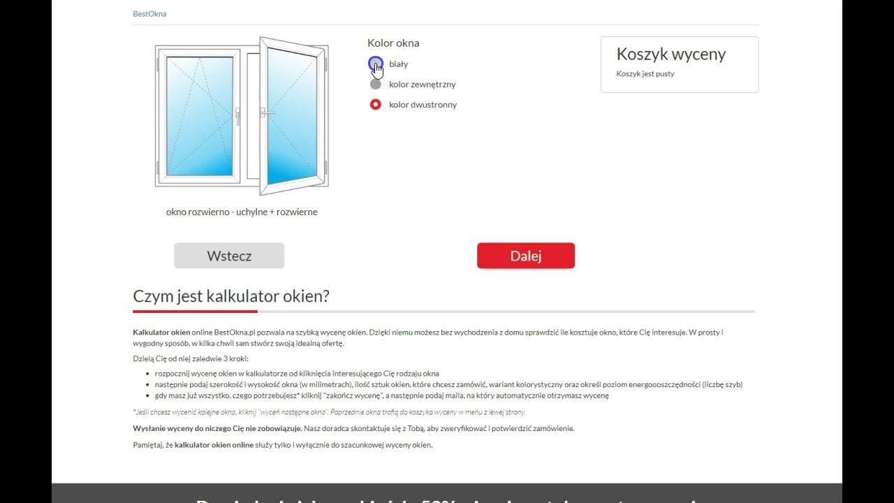 Okna Kalkulator Samodzielna Wycena Okien Online