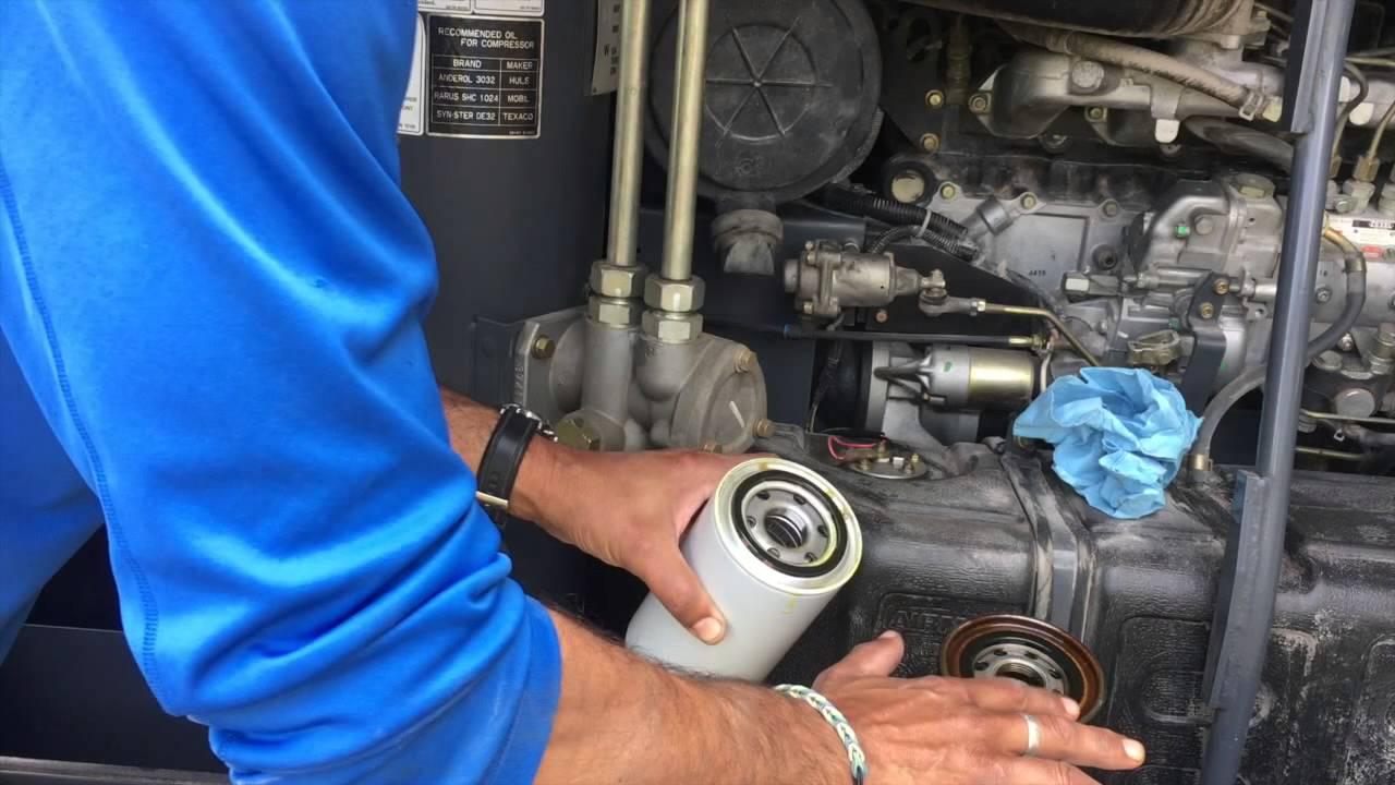 Servicing An Airman Portable Compressor Pds185s