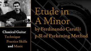 Etude in A Minor by F. Carulli - p.81 of Christopher Parkening Classical Guitar Method Vol.1