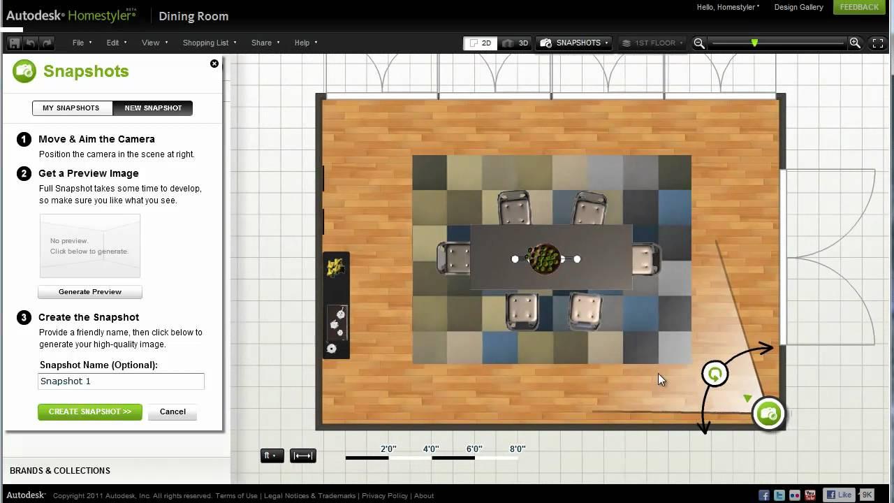 Autodesk Homestyler Snapshot and 360 Panorama Tutorial - YouTube
