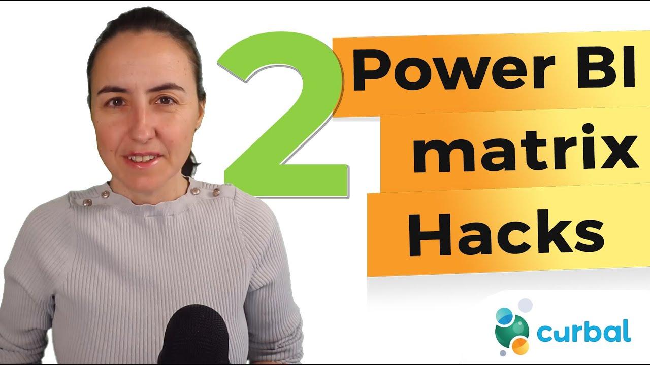 2 Power BI matrix hacks you wish you knew 🔥