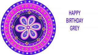 Grey   Indian Designs - Happy Birthday