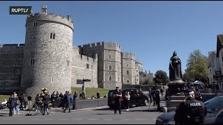 Live from Windsor where Prince Philip's funeral takes place