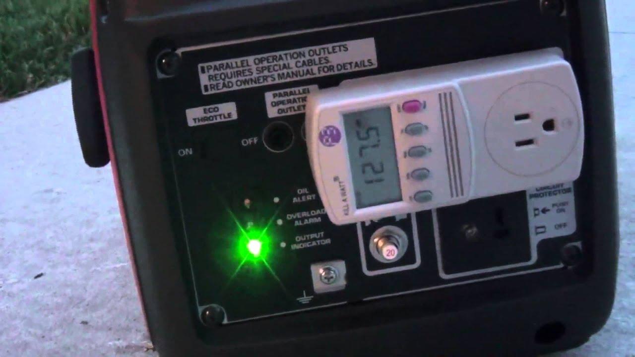 Honda Eu2000i Generator Voltage Drop Testing
