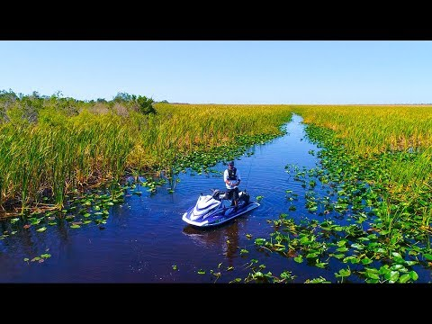 "CRAZY Kid Fishes Everglades on a Supercharged JETSKI!!! (20 miles deep) ""Jiggin With Jordan"""