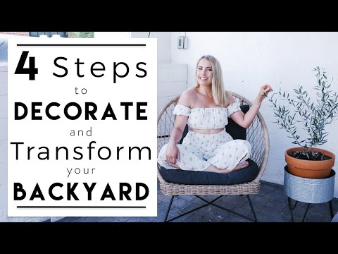 INTERIOR DESIGN | How to Decorate a Small Backyard on a Budget | House to Home