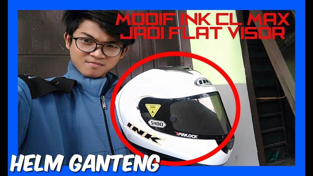 Gambar Stiker Visor Helm Ink Cl Max Fullstiker Dark Smoke Ganteng Modif Jadi Flat Youtube