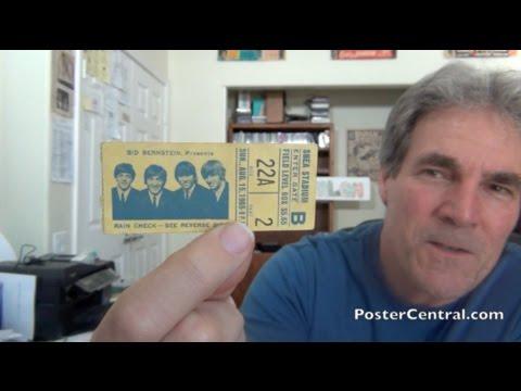 Beatles Ticket Stubs 1965 Shea Stadium Concert NYC