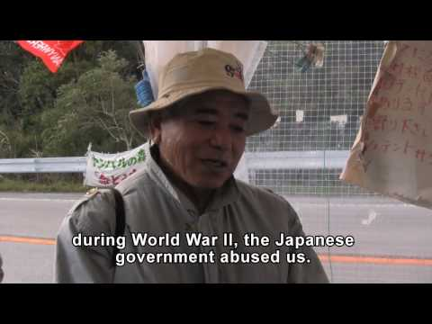 Protester Explains the Heart of Okinawa